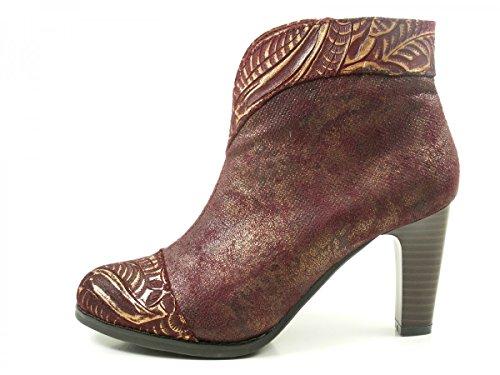 Laura Vita SL316-3B Albane 300 Schuhe Damen Stiefeletten Ankle Boots Rot