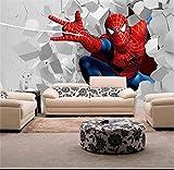 Murale Papier Peint PapierPeintPour Enfants Peinture Murale Spiderman Pour La Chambre À Coucher De La Chambre Des Enfants Tv Toile De Fond Imperméable À L'Eau Papel De Parede-250x175cm
