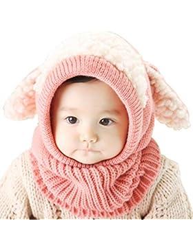 Unisex Baby Mütze, Strickmütze Warm Wintermütze, Earflap Hut Kappe Schnee Hut, Schlupfmütze Schalmütze Hündchen