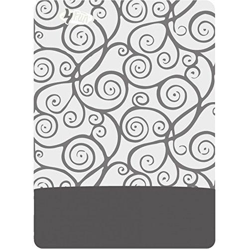 4FUN® Polartec WindPro (multifunzione Bandana fazzoletto panno sciarpa multifunzione + UP®-Adesivi), Violin Key Grey / WindPro