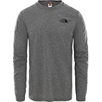 The North Face, T93L3B, T-shirt a Maniche Lunghe, Uomo, Grigio (Tnf Medium Grey Heather), L