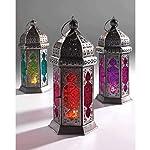 Lindsay Interiors Glass Lampada Lanterna in Stile Marocchino, colorato in Vetro e Ferro, Fair gehandelt
