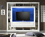 SAM® Wohnwand Medox, weiß, 196 cm, LED Beleuchtung, modernes Design, hochwertige Verarbeitung, pflegeleichte Oberfläche