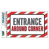 Eingang um die Ecke Mag-Neato 's-TM Vinyl Magnet Schild