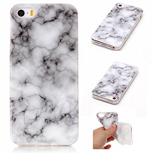 iPhone SE Hülle,Valenth weiche TPU Marmor Partern Abdeckung Hülle für iPhone SE 7 #