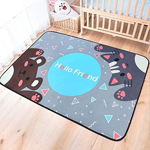 Zmymzm Kinderteppich, Baby Kind Mädchen Creeping Teppich, rutschfeste Gymnastikspielmatte, 100 * 150cm,C,150 * 200cm