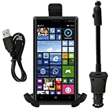 iProtect KFZ Auto Halterung zum Aufladen Universal + Micro USB Ladekabel KFZ Adapter 1,5V für Nokia Lumia 830