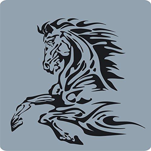 2 Pferde-Aufkleber zur Dekoration von Wänden, Glasprodukten, Fliesen und allen anderen glatten Oberflächen - Pferd-vase