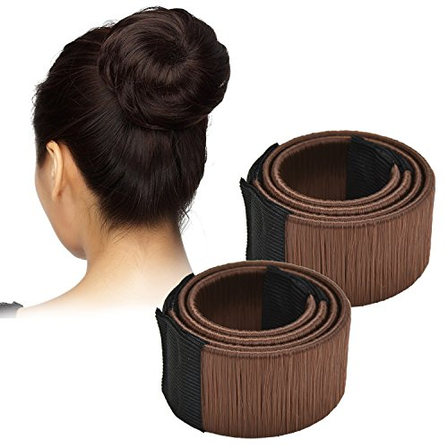Browill 2 Pack Damen Fashion Hair Styling Donut Hair Bun Maker Perfekt fur lange und dicke Haare - 2