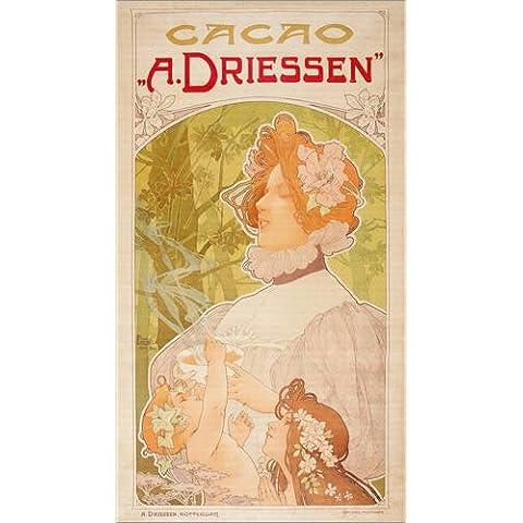 Stampa su legno 60 x 110 cm: Cacao A. Driessen di Henri Privat-Livemont