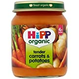 Hipp Organique Tendres Carottes Et Pommes De Terre 4 + Mois 125G - Lot De 2