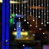 Prevently Weihnachten Stern Hängende Verzierung Wandaufkleber Weihnachten Deko Aufkleber Schlafzimmer Wohnzimmer Fensterbilder Sticker Wandtattoo Wanddeko