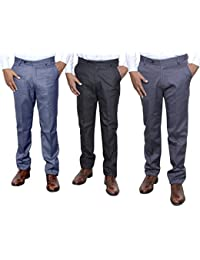 Indistar Combo Offer Mens Formal Trouser (Pack Of 3) - B01JRQXJSW