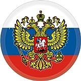 3d Escudo Pegatinas Rusia con águila Escudo redondo 50mm