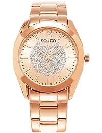So & Co New York Reloj de cuarzo Madison Mujer con Oro Rosa Esfera Analógica Pantalla y Pulsera de acero inoxidable oro rosa 5096.3