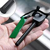 HCFKJ Flintstones Ferro Rod Magnesium Flint Feuerstarter mit Metallgehäuse Survival Tool