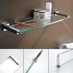 kinse glas duschablage badregal duschregal duschkorb badablage wandregal glasablage f r. Black Bedroom Furniture Sets. Home Design Ideas