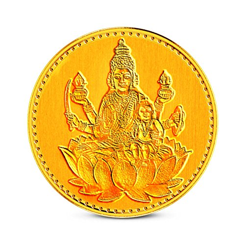 Zaamor Diamonds 1 gm, 24k (999) Yellow Gold Precious Coin  available at amazon for Rs.3293