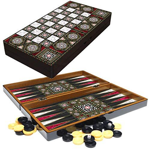 PrimoLiving Backgammon de Madera Orient en Formato XXL 48x48,7 cm