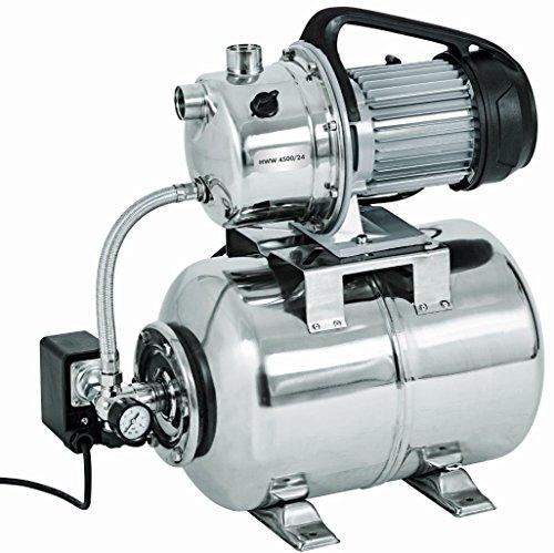 Hauswasserwerk HWW 4500/24 Inox, 1100W Gartenpumpe Profi, max.4600l/h