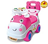 Baybee Hippo Ride-on Car (Pink)with Musi...
