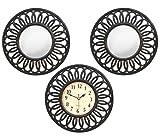 #8: TiedRibbons Wall Clock and Mirror Set