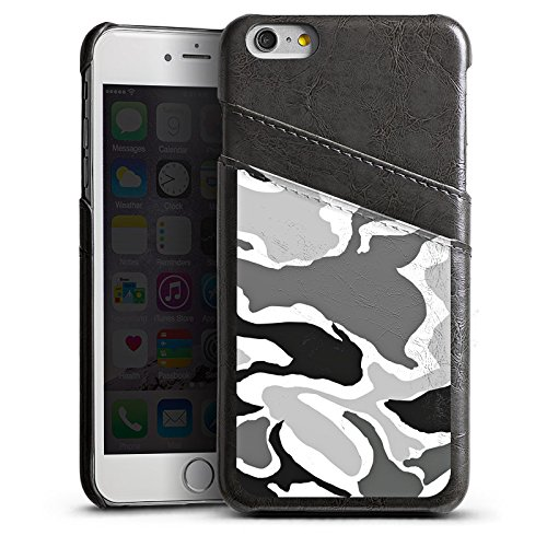 Apple iPhone 5 Housse Étui Silicone Coque Protection Camouflage Motif Motif Étui en cuir gris