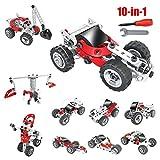 Milkee 10 in 1 Auto Montag spielzeug wagen,100-teilig-Konstruktions-Set,10 Verschiedene Modelvarianten,Auto Montage Spielzeug ab 5 jahren jungen Auto Pädagogisches Spielzeug
