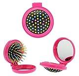 Arcobaleno Mini pieghevole pettine, spazzola di salute massaggio e bellezza con specchio - CINEEN - amazon.it
