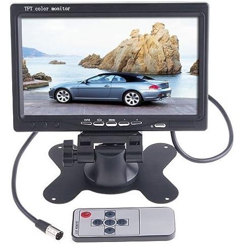AFUNTA 7pollici TFT LCD a colori Car Rear View Camera Supporto Monitor Schermo rotante e 2ingressi AV, usato con auto retrovisore telecamere, Car DVD, telecamere di sorveglianza, STB, ricevitore satellitare e altri Video Equipments