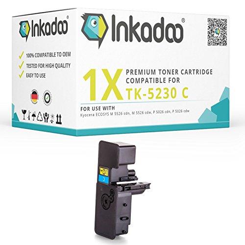 Premium Ersatz-Toner Kyocera TK5230-C | 2.200 Seiten - Drucker-Kartusche in Cyan | Kompatible Drucker Kyocera ECOSYS M 5521 CDN, M 5521 cdw, P 5021, P 5021 CDN, P 5021 cdw, P 5021 Series