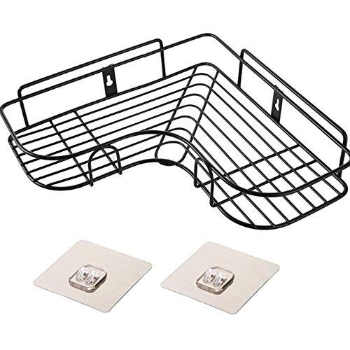 BB&ONE Badezimmer-Wandhalterung, Mehrzweck-Regal, Wandmontage, Aufbewahrungs-Organizer für Badezimmer, langlebiges Metalldraht-Design hält heiße Werkzeuge (Eisen-Art/Schwarz) -