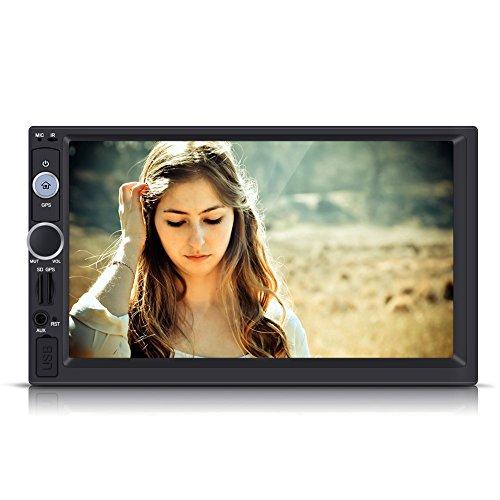 Qiilu 7 Zoll 2 DIN HD Touchscreen Bluetooth GPS Stereo Radio FM/USB / AUX / MP5 Spieler