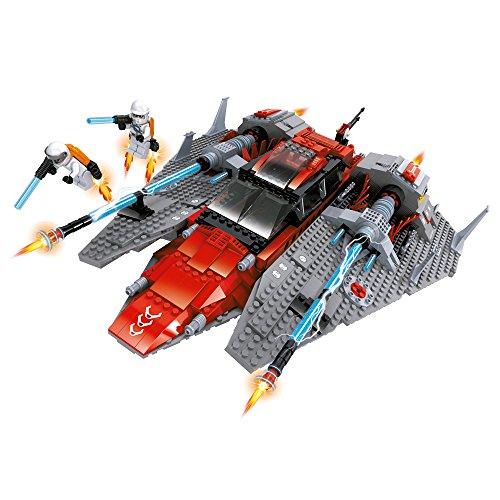 Ausini - Juego de bloques construcción Nave espacial & 2 supermisiles - 1.584 piezas (ColorBaby 42840)