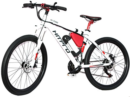 "Hitpro White Electric Mountain Bike/E Bike (HP-04) 26"" UK"