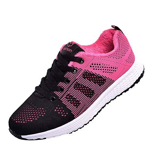Sneaker Damen, Beiläufige Joggingschuhe Plateau Sneaker Frauen Schnürer Schuhe Hausschuhe für Gym,ABsoar