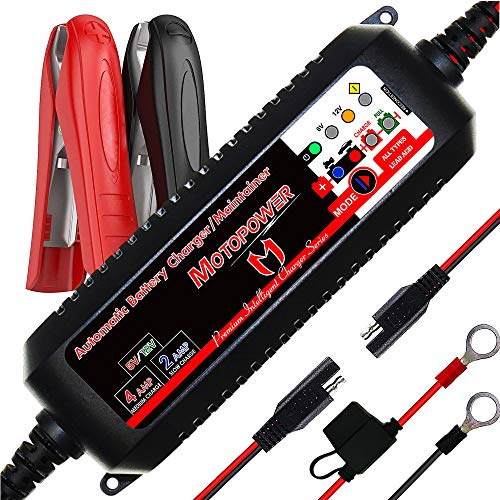 MOTOPOWER MP00207 6V / 12V 4AMP Caricabatterie Intelligente Completamente Automatico Con Modalità di Recupero Della Batteria