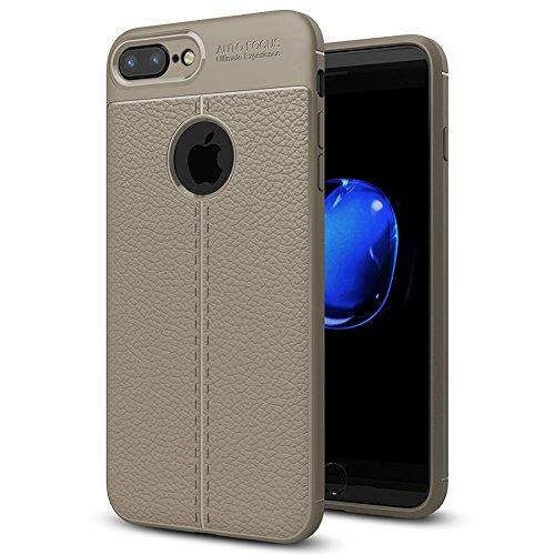 """Apple iPhone 7 Plus (5.5"""") Hülle, MSVII® Anti-Shock Weich TPU Silikon Hülle Schutzhülle Case Und Displayschutzfolie für Apple iPhone 7 Plus (5.5"""") - Rot / RED JY90038 Grau"""