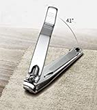 1Pc Heavy Duty Nail Clipper, Stainless Steel Toe Finger Nail Clippers Cutter For Men Women
