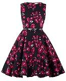 Kate Kasin Maedchen Retro Rockabilly Aermellos Kleid 9-10 Jahre KK250-4