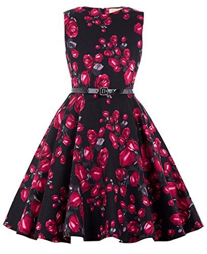 Maedchen Party Kleid A-Linie Blumen Kleid 6-7 Jahre KK250-4