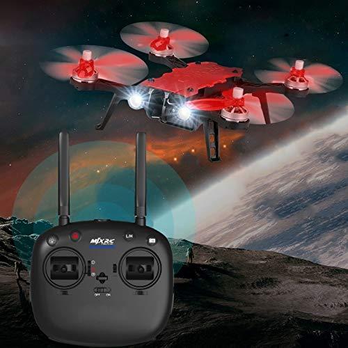 MJX Bugs 8 Pro Drone Quadricottero Telecomando 2.4Ghz 4 Luci LED Salti 3D Rosso