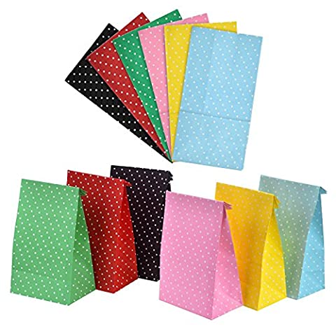BBTO 12 Pieces Party Bags Dot Gift Paper Bags Grocery