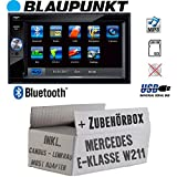 Mercedes E-Klasse W211 Lenkrad Most CanBus - Autoradio Radio BLAUPUNKT Santa Cruz 370 Bluetooth SD USB 6,2' TFT Display Touch - Einbausatz - Einbauzubehör - Einbauset