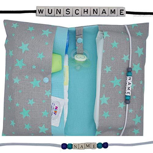 Große Windeltasche XXL mit Name Wickeltasche - Personalisierte Wickeltasche Große