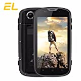 E & L W5 IP68 imperméable à l'eau anti-poussière Shockpproof 4.0 pouces téléphone mobile Android 6.0 MT6735 Quad Core 1 Go RAM 8 Go ROM 5.0MP 4G FDD LTE 2800mAh Batterie 4.0 '' Smartphone (Jaune)