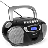 Blaupunkt Boombox B 110 PLL, children's CD player, audiobook function and USB with cassette player, portable CD radio, aux in, headphone jack, PLL FM tuner