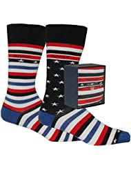 Gant 2er-Pack Sternen & Streifen Männer Socken Geschenk-Set, Marine/rot