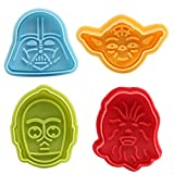 Moncolis Fondant Ausstecher Star Wars Ausstechformen Plätzchenformen Backformen Keks Cookie Cutters Tortendeko