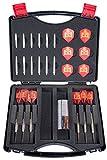 Royal Darts Dartskoffer Style inkl. 6 Steeldarts und Zubehör